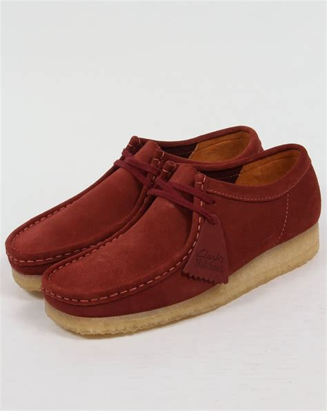 Original Clarks Preloved Shoes clarks originals wallabee shoes in suede terracotta mens moccasin