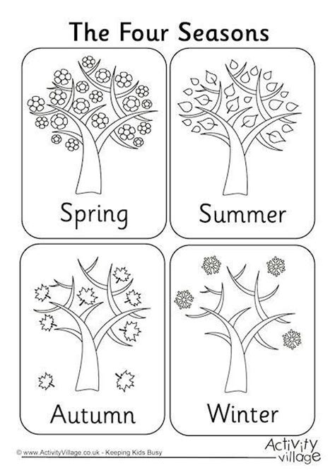 Coloring Pages Seasons 25 best ideas about seasons activities on the