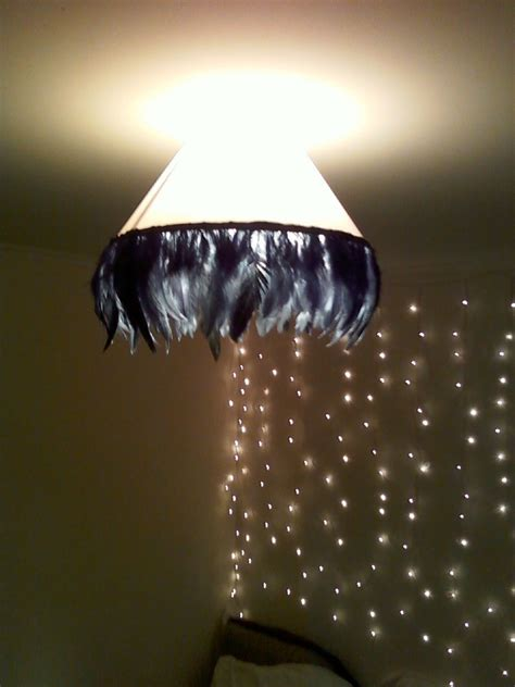 vintage glam feather lampshade   ceiling shade