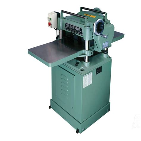 planer woodworking general international 15 in single surface planer with