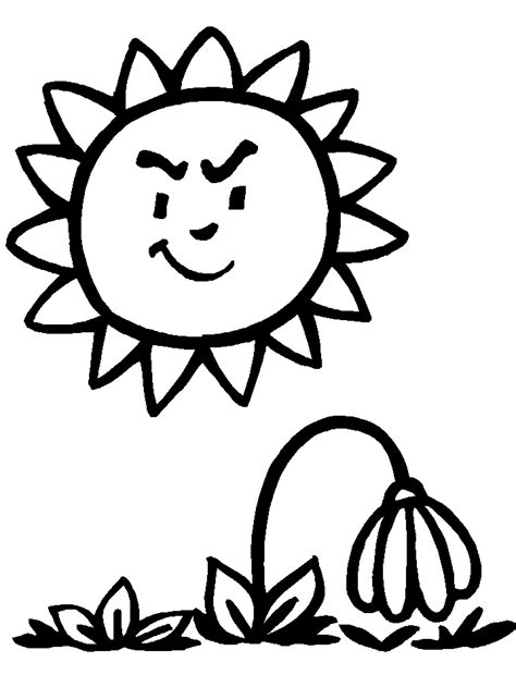 cartoon flower coloring page pics of cartoon flowers coloring home