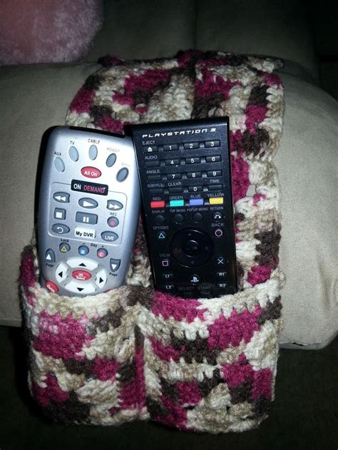 free crochet pattern remote holder tv time accessories crochet pattern on pinterest