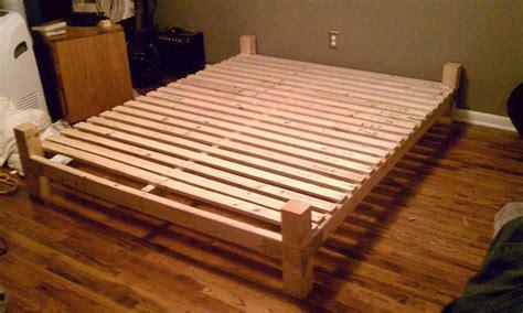 diy platform bed  floating nightstands