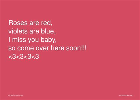 roses  red violets  blue    baby  text message   lover lover