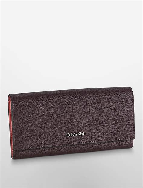 calvin klein ck wallet calvin klein womens galey saffiano leather continental wallet