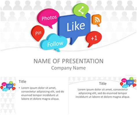 Social Media Bubbles Powerpoint Template Templateswise Com Social Media Powerpoint Template