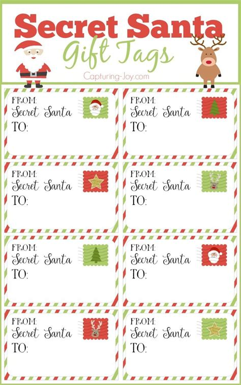 secret santa gift tags secret santa gift exchange ideas