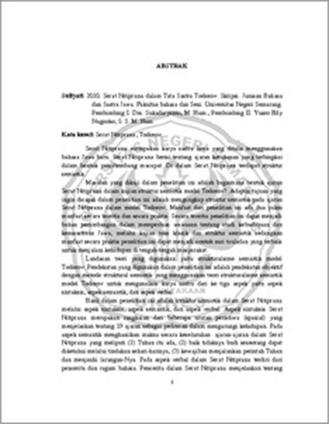 contoh teks ulasan mengenai beragam karya sastra puisi abstrak pdf serat nitiprana dalam tata sastra todorov