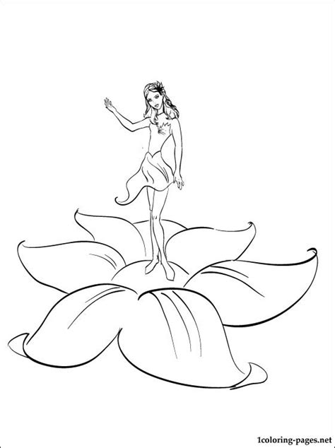 barbie thumbelina and many fairies coloring page