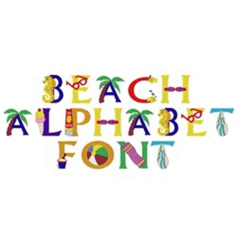 printable beach fonts beach alphabet by daydream designs home format fonts on