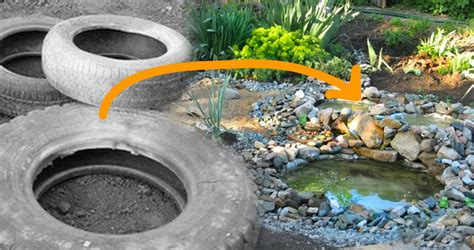 diy tire pond turns your backyard into an oasis
