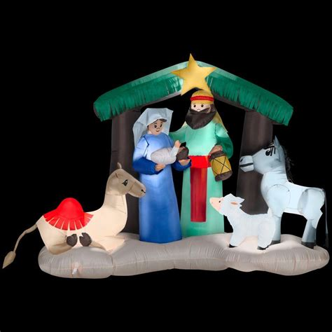 home depot inflatable christmas decorations gemmy 6 ft h inflatable nativity scene 87876x the home