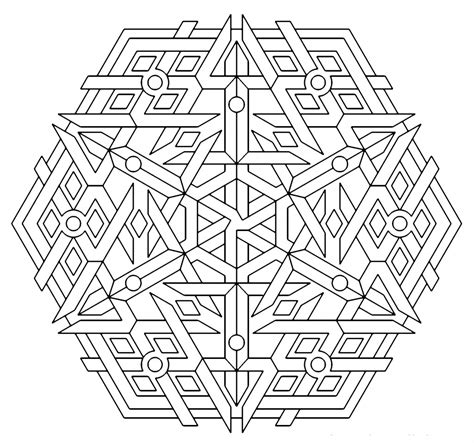 Coloring Page by Free Printable Geometric Coloring Pages For