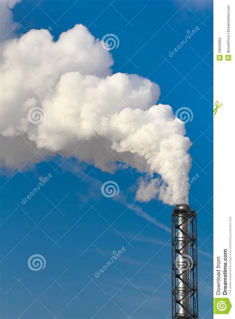 Smoke Comes Out Of Fireplace polluting smoke coming out of chimney stock photography