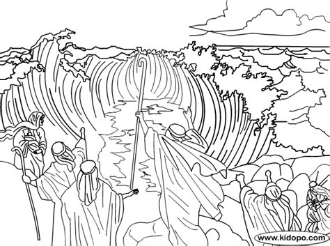 moses red sea coloring page picture to pin on pinterest