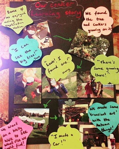 story themes for early years our conker learning story we have been creating little