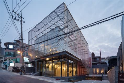 Vans Transparent Mirror Blue mirror strips wise architecture archdaily