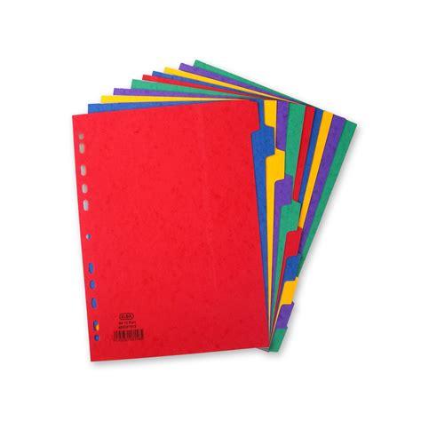 Pen Paper Inter X Folder Index Divider 10 Tabs A4 elba a4 heavyweight 10 part dividers kps office supplies