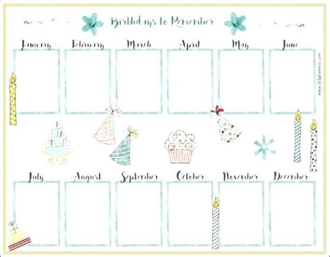 family birthday calendar template family birthday calendar template perpetual yearly with