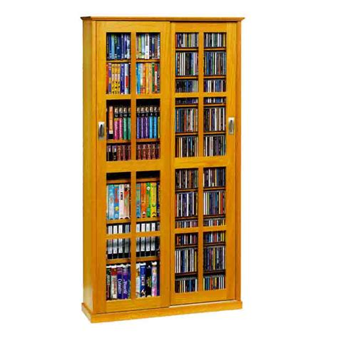 leslie dame multimedia storage cabinet oak ms 700 oak