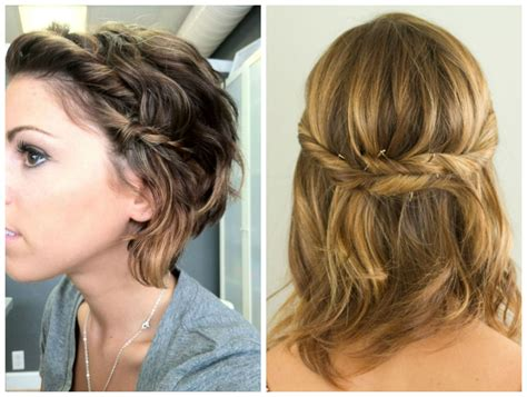 braids updo for short hairstep by step short hairstyles twisted hairstyles for short hair step