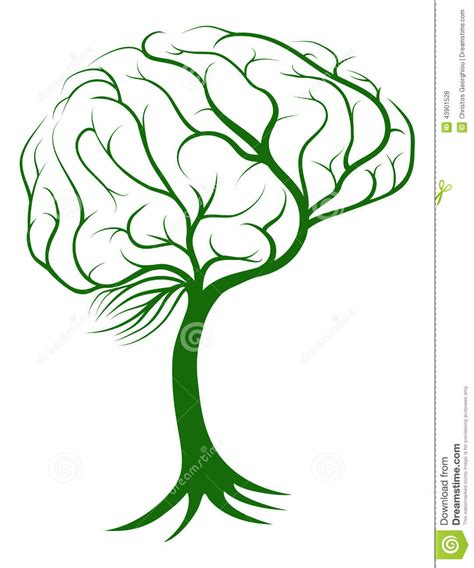 brain tree light up brain tree concept stock vector image 43901528
