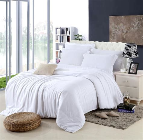 White Bed Linen Sets King Size Luxury White Bedding Set Duvet Cover Bed Quilt Doona Sheet Linen Bedsheet
