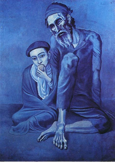 picasso paintings blue the beggar picasso blue period wallpaper picture