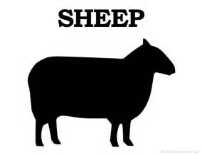 printable sheep silhouette print free sheep silhouette