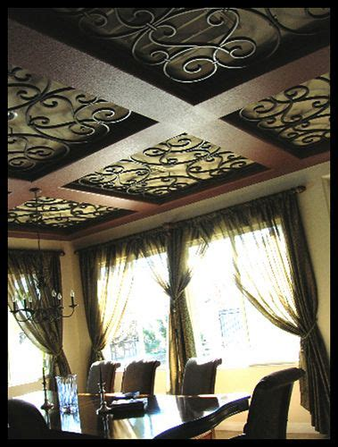 faux wrought iron custom ornamental ceiling inserts