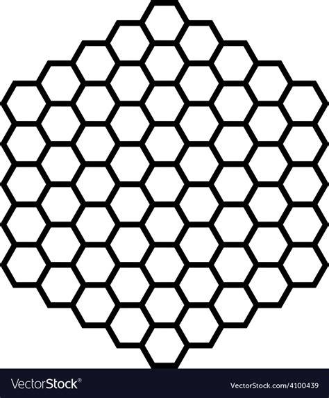 hexagon pattern web hexagon pattern field black outline royalty free vector