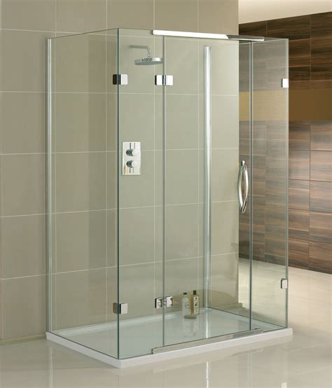 1200 Pivot Shower Door Aquadart Inline 3 Sided Hinged Door Shower Enclosure 1200 X 800mm
