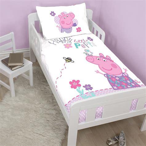 Peppa Pig Junior Bed Set New Peppa Pig Junior Toddler Cot Bed Duvet Quilt Cover Set White Bedroom Ebay