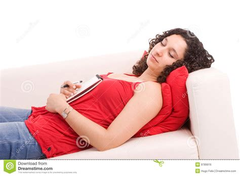 y girl on couch young girl sleeping on couch royalty free stock image