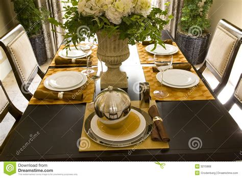 Dining table decor 1707 stock photo. Image of suburb, thanksgiving 3215868