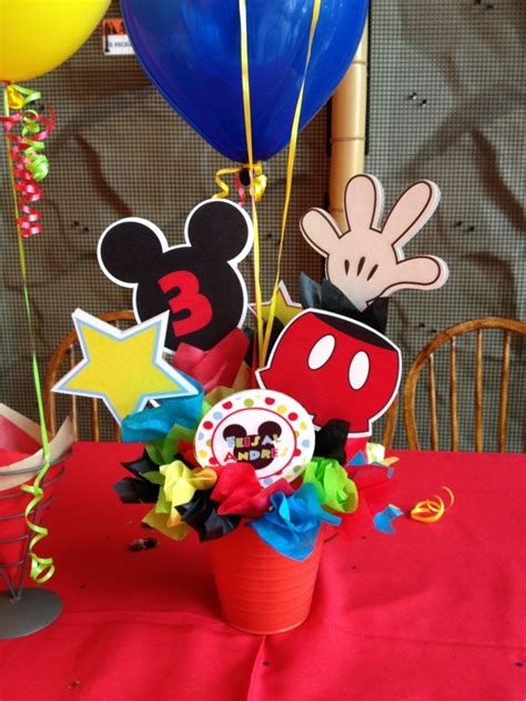 mickey mouse clubhouse birthday centerpieces