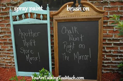 Chalkboard Paint Spray Vs Brush On Pros And Cons