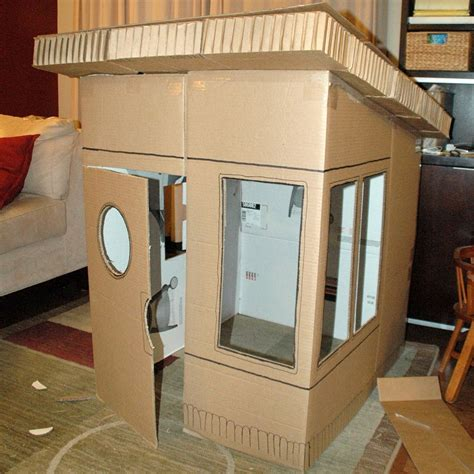 how to make cool boxes 16 diy cardboard playhouses guide patterns