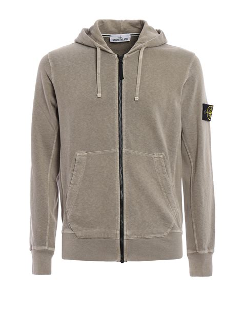 Stitching Hoodie exposed stitching cotton hoodie by island