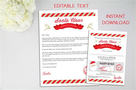 Letter From Santa   Editable File   Letter from Santa