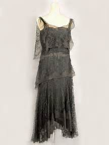 French hand beaded silk chiffon dress c 1925 labels quot made in