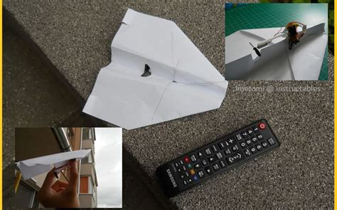How To Make A Remote Paper Plane - upgrade your paper planes with this diy tv remote