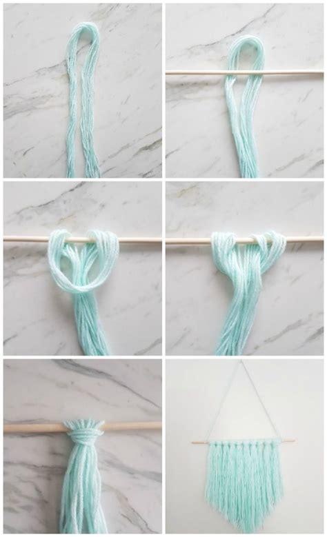 wall hanging craft for how to make an easy diy wall hanging with yarn the