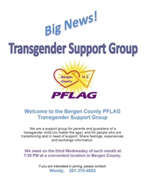 transgender and crossdressing support groups abgendercom transgender support pflag of bergen county new jersey