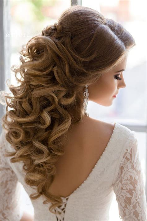 Wedding Hair Up Curls by Curly Wedding Hairstyles Half Up Wedding Ideas