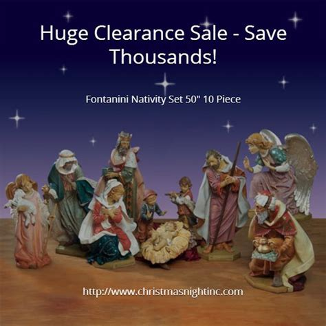 fontanini nativity nativity sets and clearance sale on