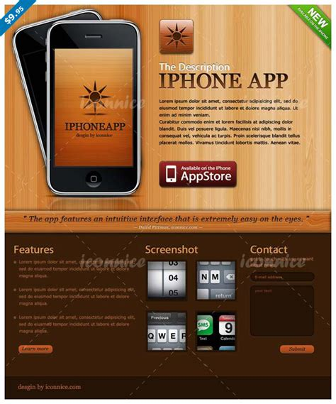 iphone app website template free 15 iphone app website templates only 24