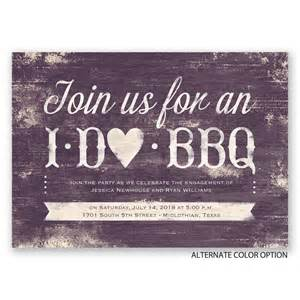 i do bbq engagement invitation invitations by