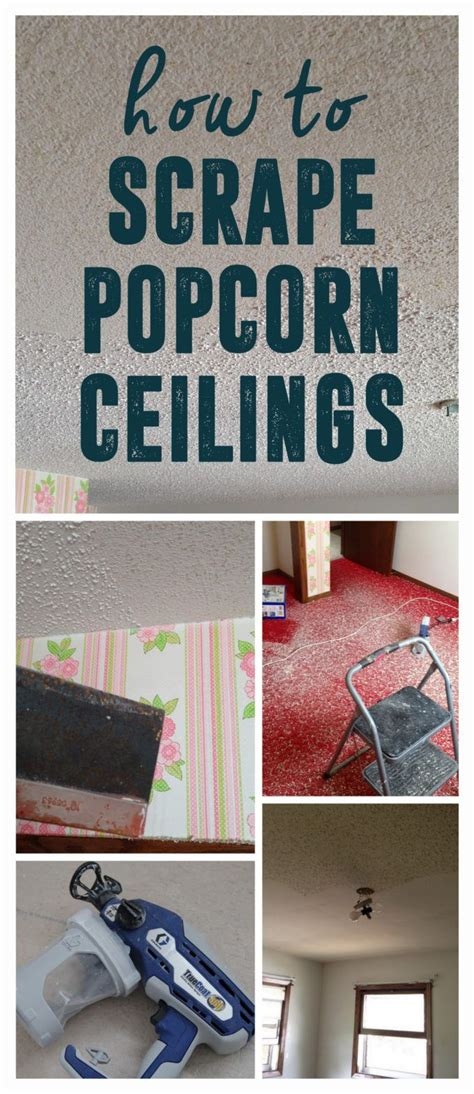 tips and tricks for scraping popcorn ceilings how to