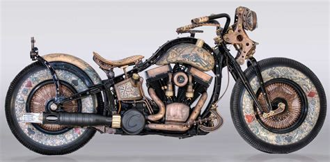 The incredible tattooed motorcycle is complete   MoreBikes